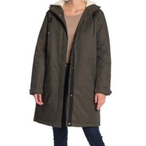 NWT Levi's Faux Shearling Lined Hooded Parka